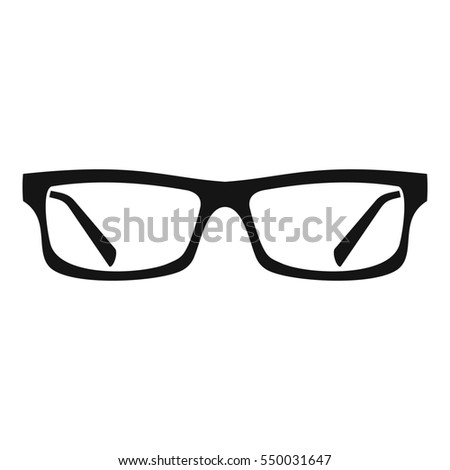 Eye glasses icon. Simple illustration of eye glasses  icon for web