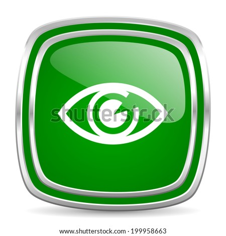 eye glossy computer icon on white background