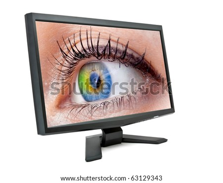 eye in the monitor