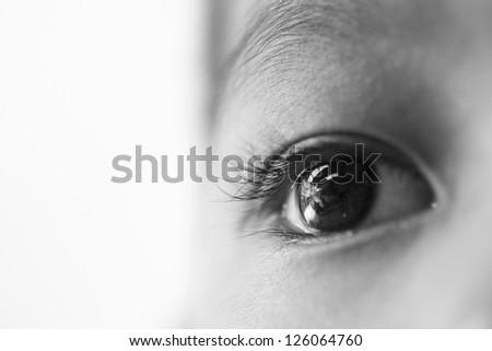 Eye of kid - stock photo
