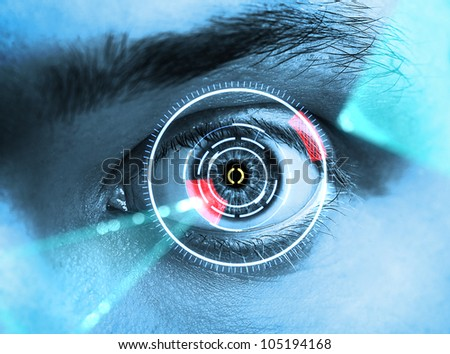 eye scan - stock photo
