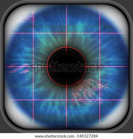 Eye scanner - stock photo