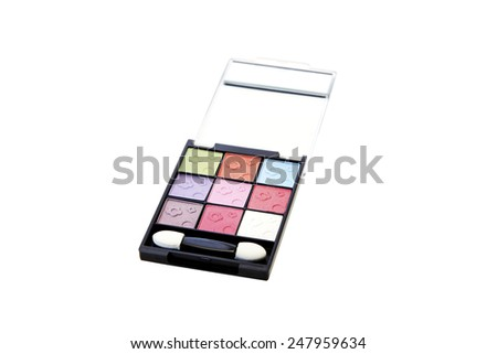 Eye shadow cosmetic isolated on white background