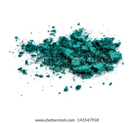 Eye shadow isolated on white background - stock photo