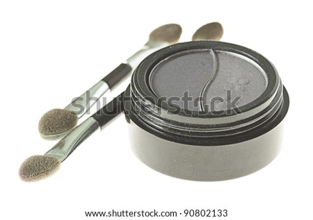 eye shadow makeup isolated on a white background