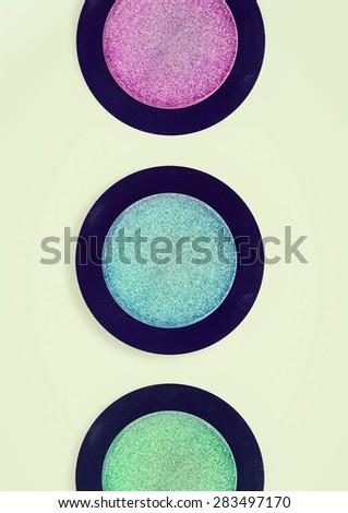 eye shadow, vintage effect - stock photo