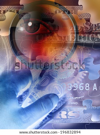 Eye Watches over Business - stock photo