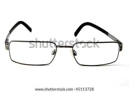 Eye wear isolated on white, glasses - stock photo