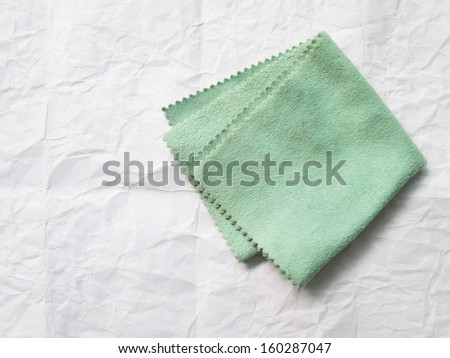 Eyeglass cloth green