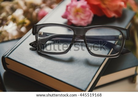 Eyeglasses in a beautiful composition.