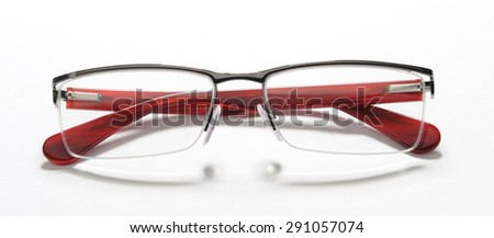 eyeglasses isolated with shadows - stock photo