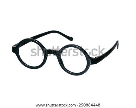Eyeglasses on Isolated White Background - stock photo