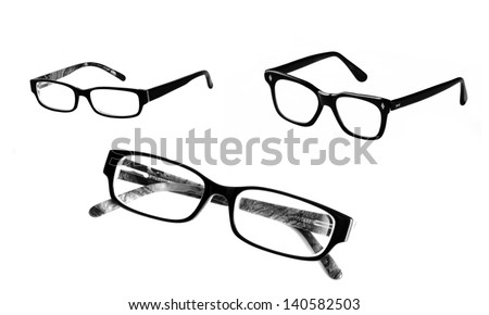 Eyeglasses set, isolated