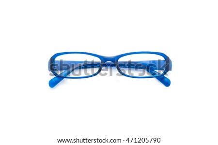 eyeglasses, spectacles or glasses on white background