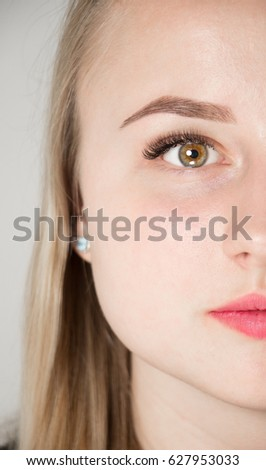 Eyelash Extension Procedure Woman Eye Long Stock Photo (Royalty Free ...