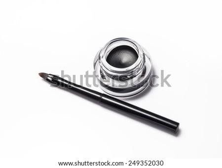 Eyeliner isolated on white - stock photo
