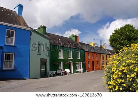 Eyeries village on the Beara peninsula in West Cork in Ireland Europe - stock photo