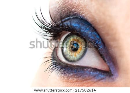 Eyes closeup - stock photo