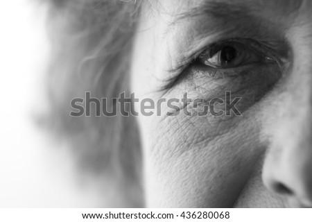 eyes of an elderly woman - stock photo