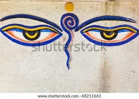 Eyes of Buddha - stock photo