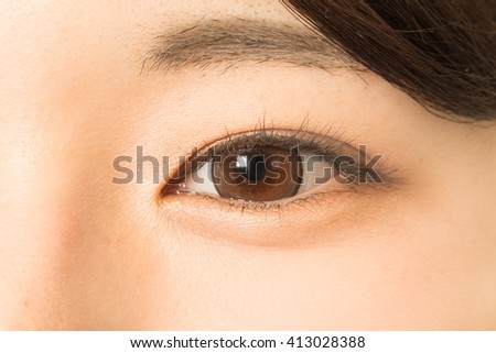 Eyes of the asian woman