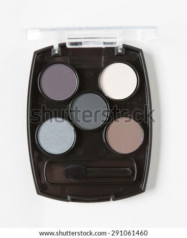 eyeshadow cosmetic isolated - stock photo
