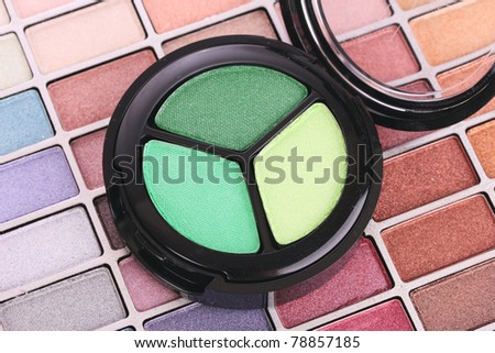 eyeshadows  shadows - stock photo