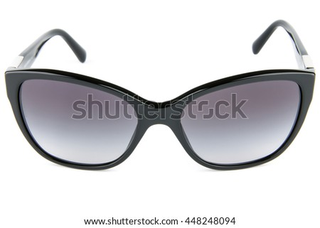 Eyewear, fashion sunglasses isolated, various models