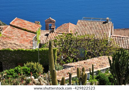 Jardin exotique eze stock photos royalty free images vectors shutterstock for Eze jardin exotique statues