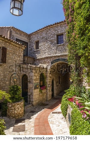 EZE-VILLAGE, FRANCE - JUNE 18, 2013: Photo of old town