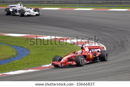 F1 Ferrari in Actions