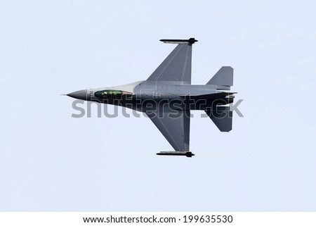 F16 Fighter Jet - stock photo