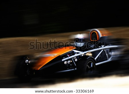 F1 racing car - stock photo