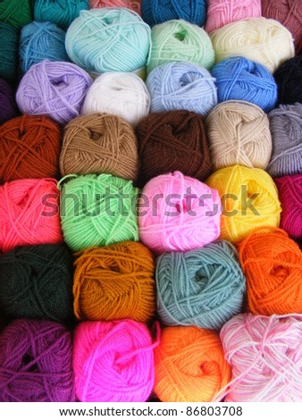 Fabric accessories for retail haberdashery,balls of wool
