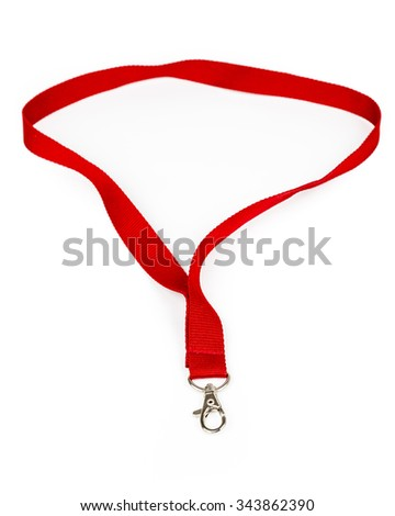 Fabric badge lanyard - isolated on white background