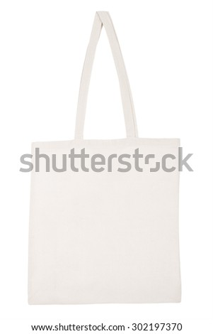 Fabric bag isolated on white  - stock photo