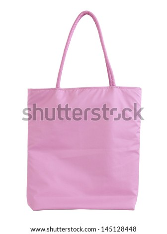 fabric bag isolated on white with clipping path - stock photo