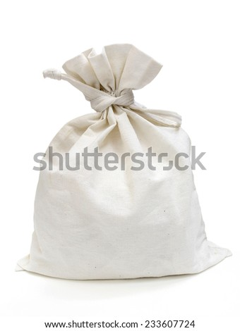 Fabric Bag (With Path) - stock photo