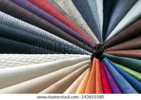 fabric color sample - stock photo