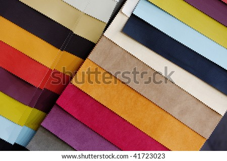 fabric color samples - stock photo