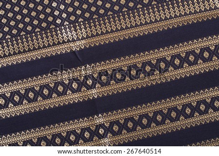 Fabric crafts Silk Cloth Hand made by Thailand  isolated on white background