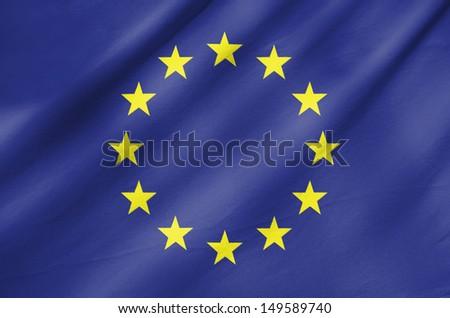 Fabric Flag of European Union - stock photo