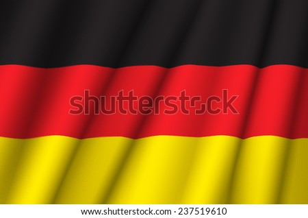 Fabric Flag of Germany - stock photo