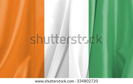 Fabric Flag of  Ivory Coast
