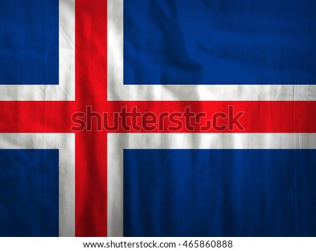 Fabric Iceland flag background texture