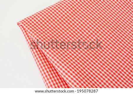Fabric isotate on white background