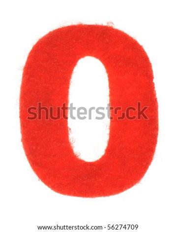 Fabric number isolated on white background - stock photo