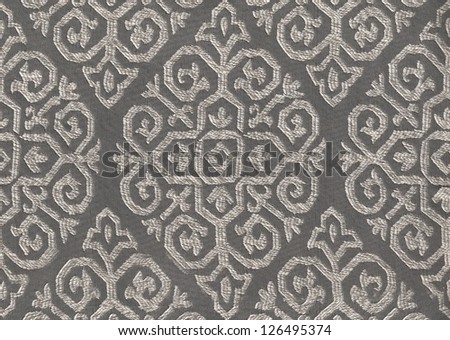 fabric pattern with brown and silver color - stock photo