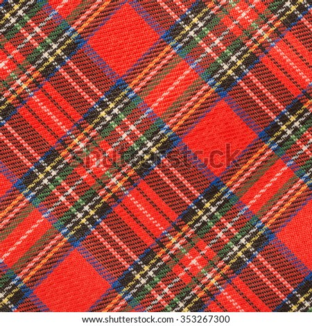 Fabric plaid texture  - stock photo