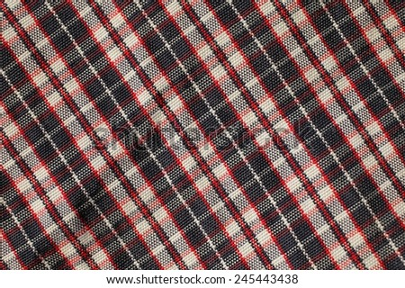 Fabric plaid texture. Cloth diagonal background. - stock photo